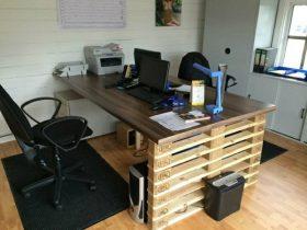 bureau en palette
