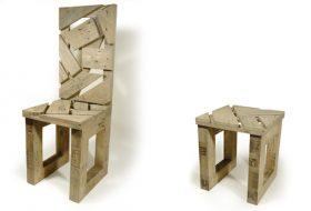 chaise et tabouret en palette