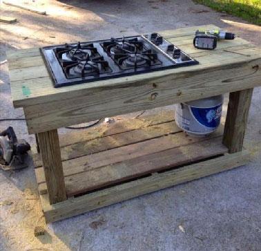 cuisinière création palette