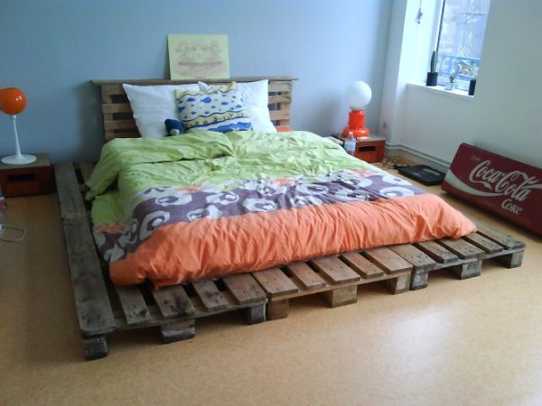 création d'un lit en palette