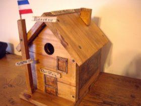 maison pour oiseaux création palette