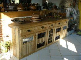 meuble de cuisine création palette