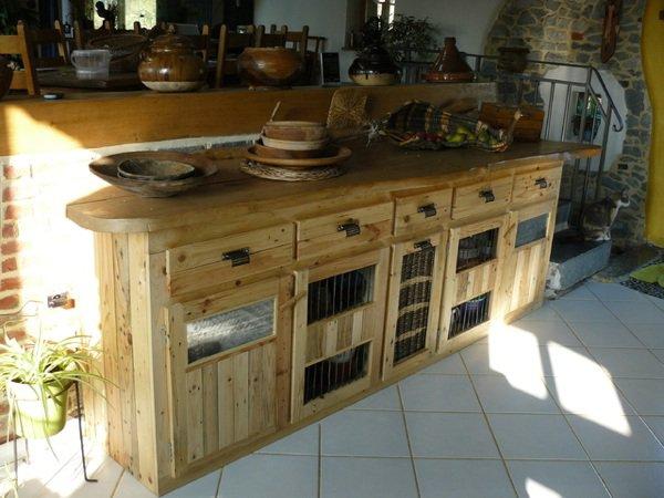 Häufig meuble de cuisine création palette - Creation Palette NH51