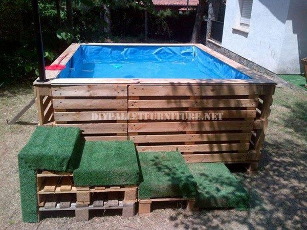 piscine carré en palette