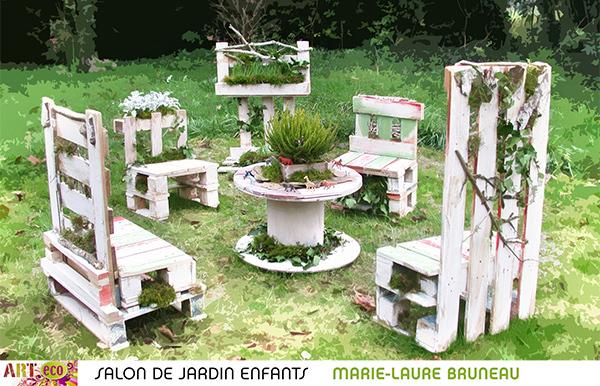 salon de jardin végétale - Creation Palette