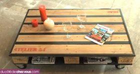 table basse création palette