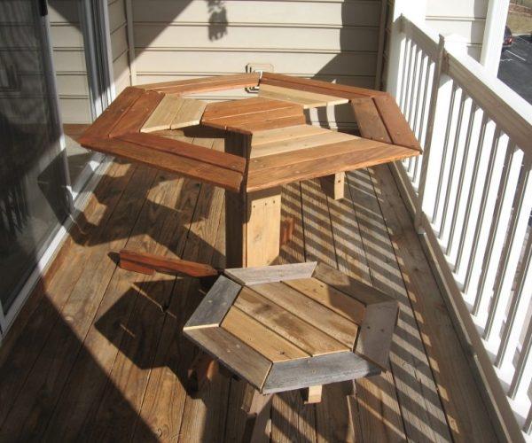 table de bistrot en création palette