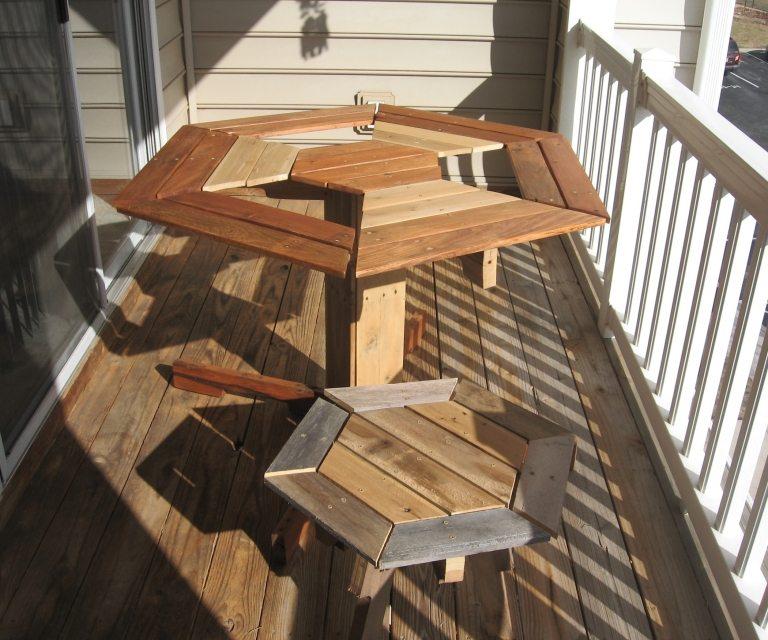 Table de bistrot en cr ation palette creation palette - Creation table de jardin en palette ...