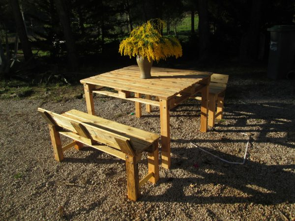 table et bancs creation