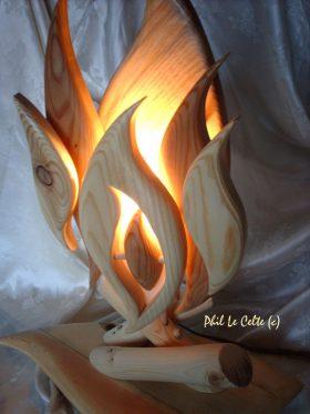 lampe de chevet en bois de palette