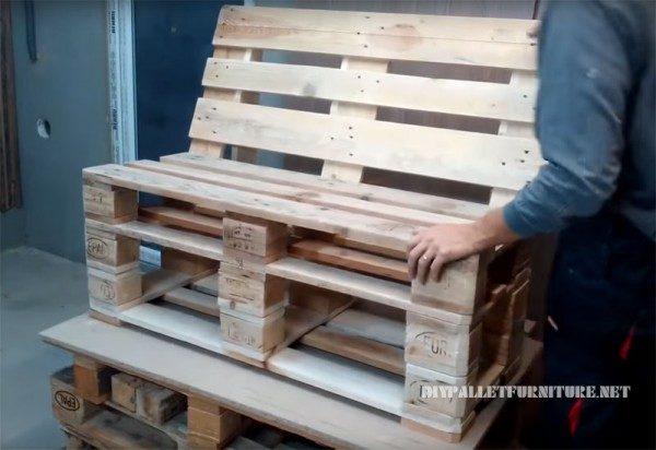 fauteuil détente en palette
