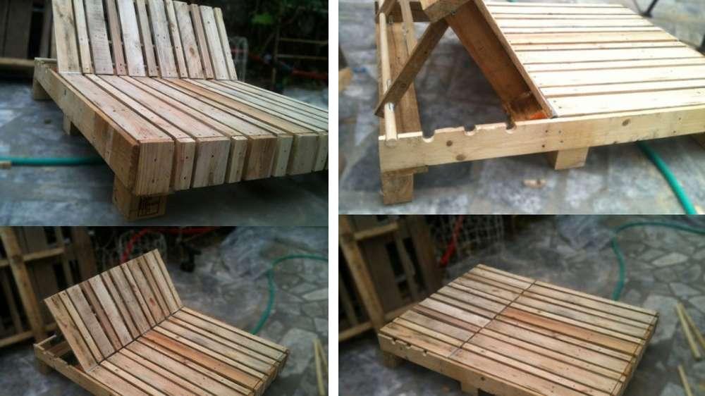Creation palette id es de cr ation en bois de palettes - Plan de chaise longue en bois ...