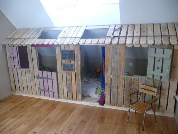 maison enfant en palette