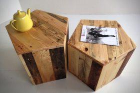 pouf et table basse en palette