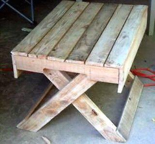 table de café en bois de palette