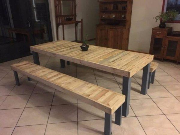 table et banc en bois de palette