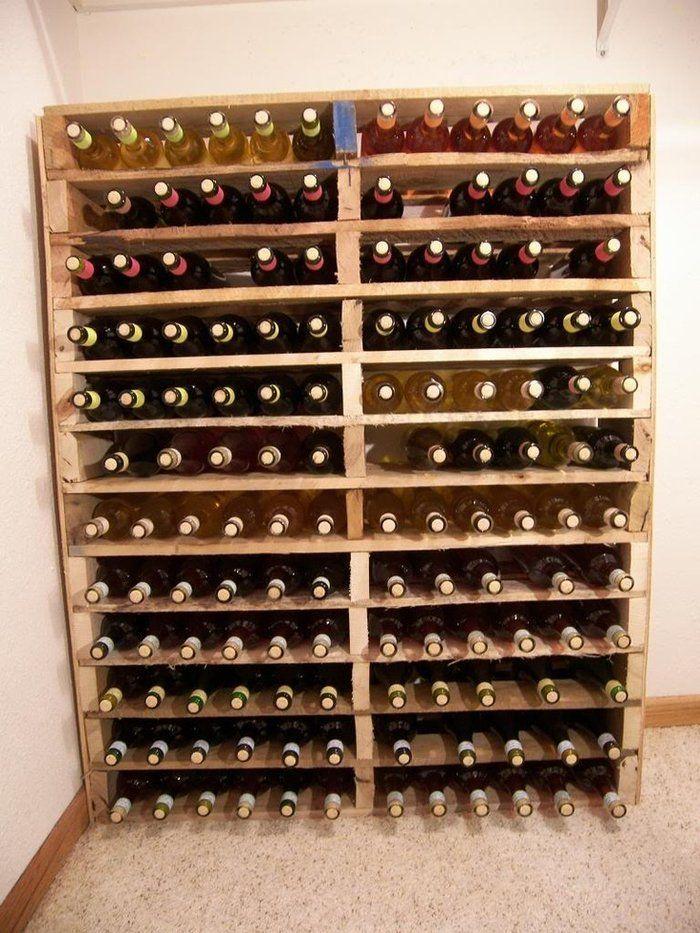 cave a vin fabriqué en palette - Creation Palette