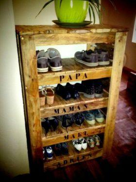 meuble-palette-pour chaussure